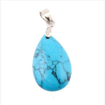 DVRDPE3.018 Pendentif reiki pierre naturelle Turquoise
